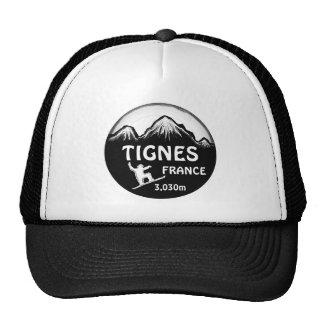 Gorra blanco negro del arte de la snowboard de Tig