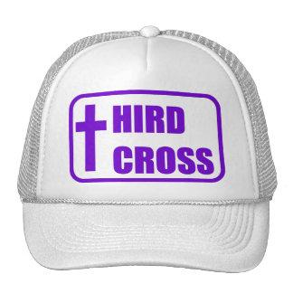 Gorra blanco púrpura del logotipo