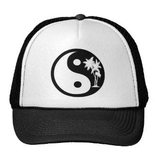 Gorra blanco y negro de Yin Yang de la palmera