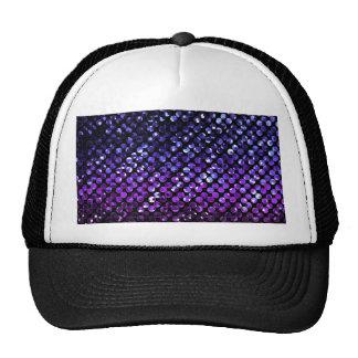 Gorra Bling cristalino púrpura Strass