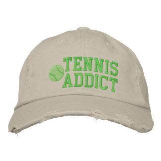 Gorra bordado adicto del tenis gorra de béisbol bordada