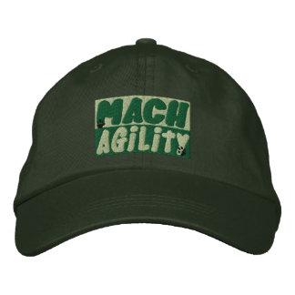 Gorra bordado agilidad del perro del Mach (verde) Gorra De Béisbol