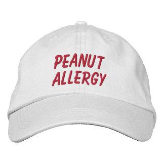 Gorra bordado alergia del cacahuete gorras bordadas