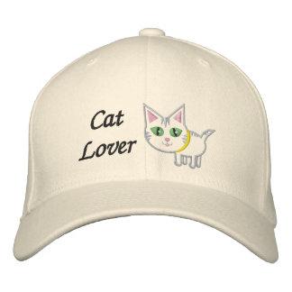 Gorra bordado amante del gato gorra bordada