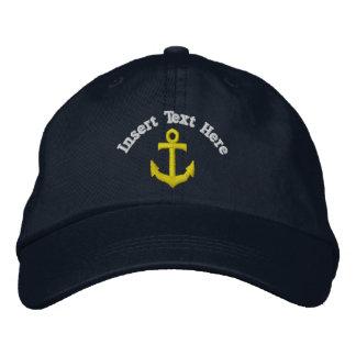 Gorra bordado ancla de encargo gorra de béisbol