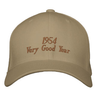 Gorra bordado año muy bueno 1954 gorras bordadas
