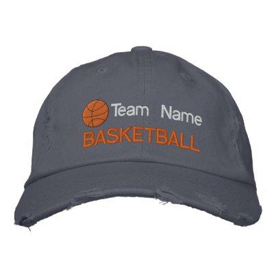 Gorra bordado baloncesto personalizado gorra de beisbol bordada