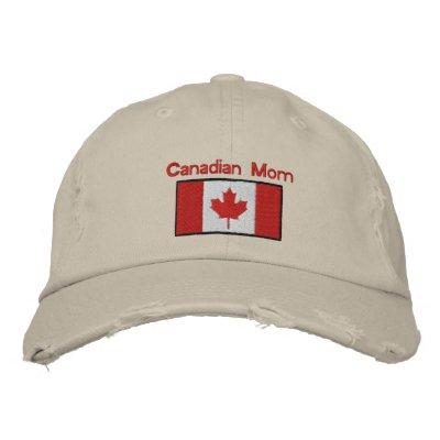 Gorra bordado bandera canadiense gorras bordadas
