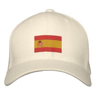Gorra bordado bandera de las lanas del flexfit de gorras bordadas