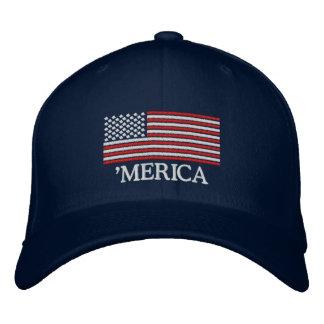 'Gorra bordado bandera de MERICA los E.E.U.U. Gorra De Beisbol Bordada