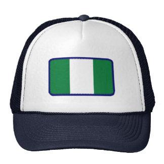 Gorra bordado bandera del efecto de Nigeria
