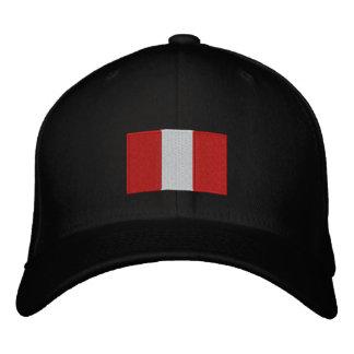 Gorra bordado bandera del flexfit de Perú Gorras De Béisbol Bordadas