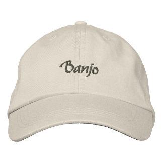 Gorra bordado banjo/texto oscuro gorra bordada