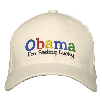 Gorra bordado Barack Obama afortunado Gorra De Béisbol