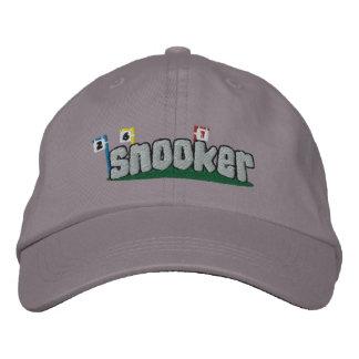 Gorra bordado billar (texto de plata) gorra de béisbol