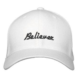 Gorra bordado blanco del creyente gorros bordados