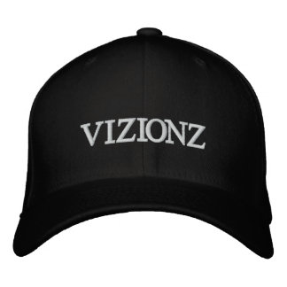 Gorra bordado BLANCO del negro del LOGOTIPO de VIZ Gorras De Beisbol Bordadas