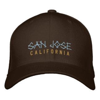 Gorra bordado California de San Jose en marrón Gorro Bordado