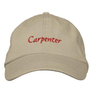 Gorra bordado carpintero de la gorra de béisbol