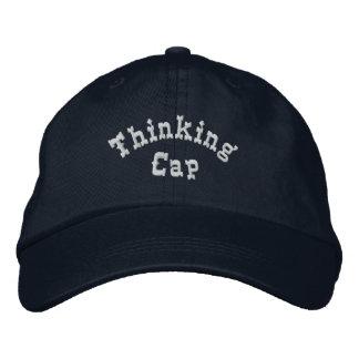 Gorra bordado chistoso del casquillo de pensamient gorra de béisbol