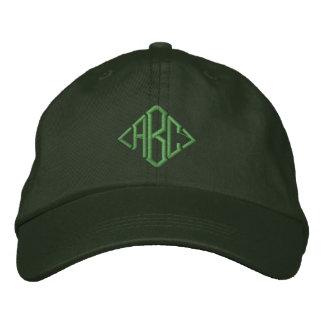 Gorra bordado con monograma de encargo verde irlan gorras de béisbol bordadas