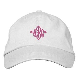 Gorra bordado con monograma modificado para requis gorra de beisbol bordada