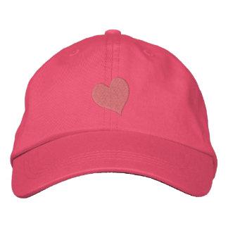 Gorra bordado corazón minúsculo gorra de béisbol
