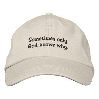 Gorra bordado cristiano gorra de béisbol bordada