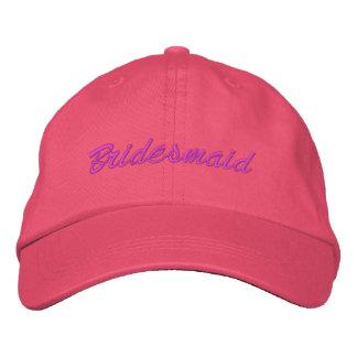 Gorra bordado dama de honor gorras de béisbol bordadas