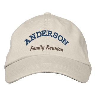 Gorra bordado de encargo de la reunión de familia gorras de beisbol bordadas