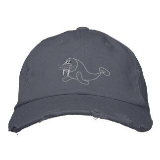 Gorra bordado de la morsa gorra de béisbol bordada