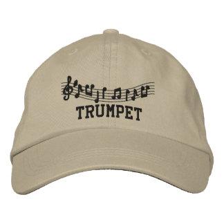 Gorra bordado de la trompeta gorra de béisbol