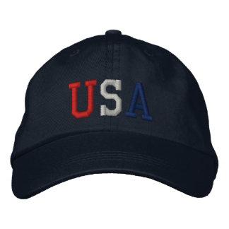 Gorra bordado de los deportes de los E.E.U.U. Gorras De Beisbol Bordadas