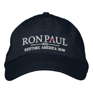 Gorra bordado de Ron Paul 2012 Gorra De Beisbol Bordada