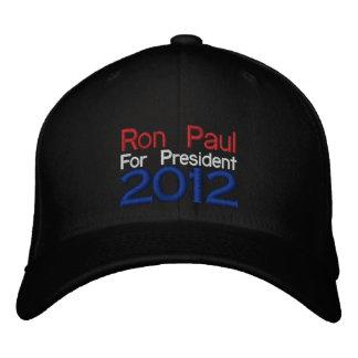 Gorra bordado de Ron Paul 2012 Gorros Bordados