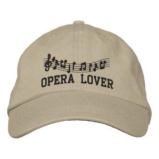 Gorra bordado del amante de la ópera gorra bordada