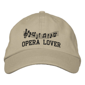 Gorra bordado del amante de la ópera gorros bordados