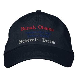 Gorra bordado _del día de inauguración de Obama 20 Gorra De Beisbol