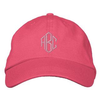 Gorra bordado del equipo del boda del monograma gorras bordadas