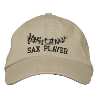 Gorra bordado del jugador de saxofón gorra bordada