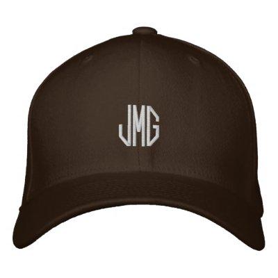 Gorra bordado del monograma gorra bordada