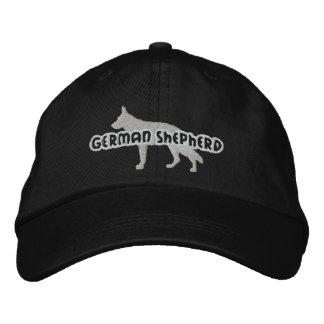 Gorra bordado del pastor alemán de la silueta gorra de beisbol