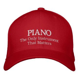 Gorra bordado del piano con lema gorra bordada