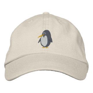 Gorra bordado del pingüino gorra bordada