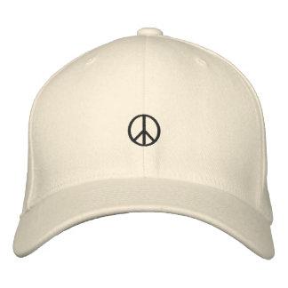 Gorra bordado del símbolo de paz gorra de beisbol
