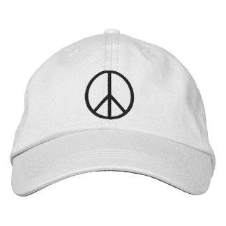 Gorra bordado del símbolo de paz gorra de béisbol