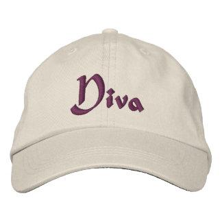 Gorra bordado divertido de la diva gorras bordadas