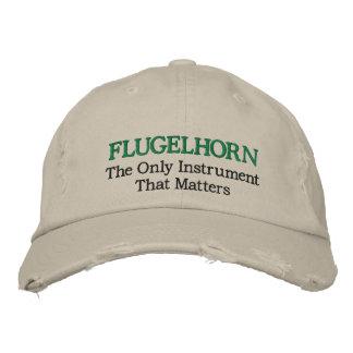 Gorra bordado divertido de la música de Flugelhorn Gorra De Beisbol