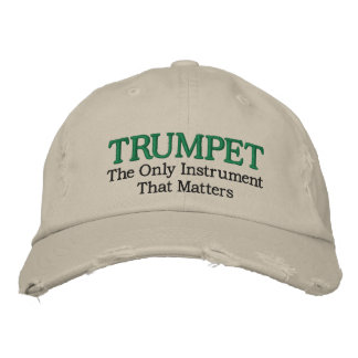 Gorra bordado divertido de la música de la trompet gorra de béisbol bordada