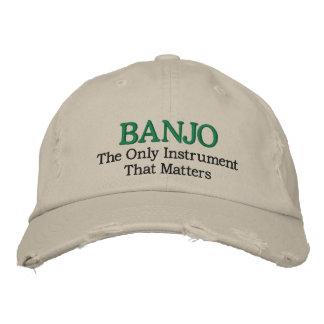 Gorra bordado divertido de la música del banjo gorra bordada